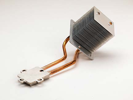 Heat Spreading Assembly with Copper Heat Pipes